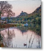 Fall Sugarloaf With Duck Painting Metal Print
