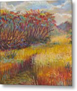 Fall Sumac Fields Metal Print
