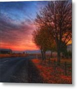 Fall Sunrise Metal Print