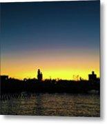 Fall Sunset In Nj Metal Print