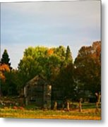 Fall Time On The Farm Metal Print