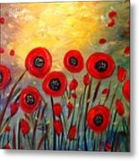 Fall Time Poppies  Metal Print