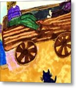 Fall Wagon Ride Metal Print