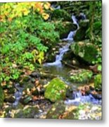 Fall Waterfall Metal Print