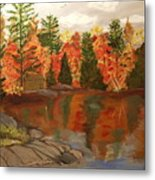 Fall Waterfront Metal Print