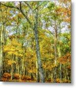 Fall Yellow Metal Print