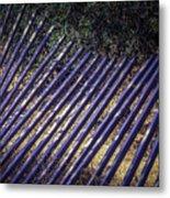 Fallen Fence Metal Print