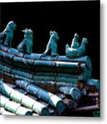 Fallen Guardians Of The Old Palace Metal Print