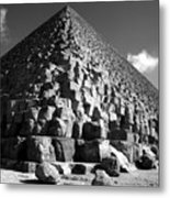 Fallen Stones At The Pyramid Metal Print