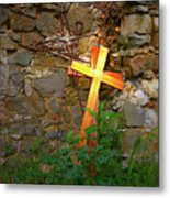 Falling Crosses Metal Print