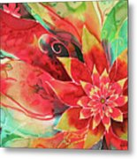 Falling Flower Metal Print