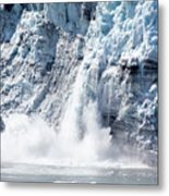 Falling Ice In Alaska Metal Print