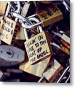 Falling In Love To The Beat Of The Music, Love Lock Metal Print