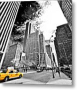 Falling Lines - Rockefeller Center Metal Print by Thomas Splietker