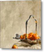 Falling Oranges Metal Print