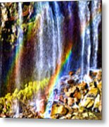 Falling Rainbows Metal Print