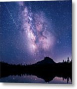 Falling Star Over The Sierras Metal Print