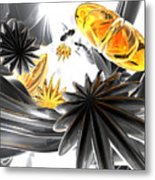 Falling Stars Abstract Metal Print