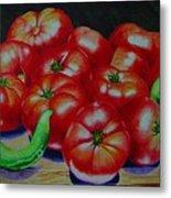 Falling Tomato Metal Print by Ron Sylvia