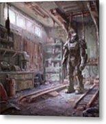 Fallout 4 Armour Metal Print