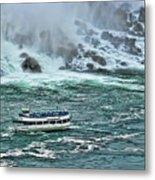 Falls Boat Metal Print
