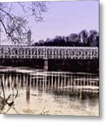 Falls Bridge Metal Print
