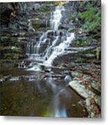 Falls Creek Gorge Trail Reflection Metal Print