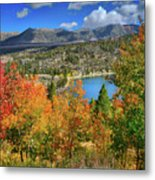 Fall's Finery At Rock Creek Lake Metal Print
