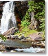 Falls Glacier National Park1 Metal Print