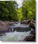 Falls In The Mountains Metal Print