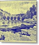 Falls Of The Schuylkill And Fort St Davids 1794 Metal Print