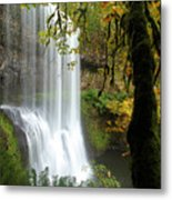 Falls Though The Trees Metal Print