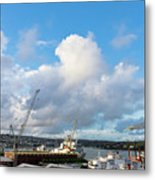 Falmouth Docks Cornwall Metal Print