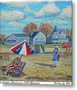 Falmouth Heights Beach On A Fall Afternoon Metal Print