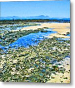 False Bay Low Tide Metal Print by Jan Hattingh