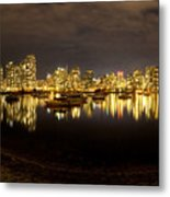 False Creek At Night Metal Print