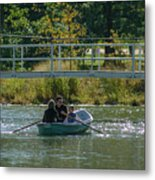 Family Boating If Forest Park Metal Print