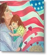 Family Country and Apple Pie Metal Print