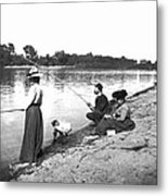 Family Fishiong Metal Print