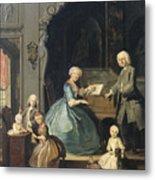 Family Group Near A Harpsichord, 1739 Metal Print