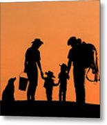 Family Of The West Metal Print
