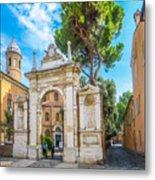 Famous Arc From Basilica Di San Vitale In Ravenna, Italy Metal Print