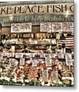 Famous Fish At Pike Place Market Metal Print