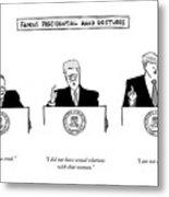 Famous Presidential Hand Gestures Metal Print