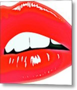 Famous Red Lips Metal Print