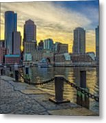 Fan Pier Boston Harbor Metal Print