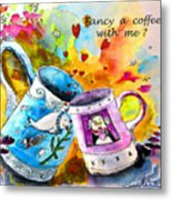 Fancy A Coffee Metal Print
