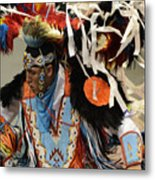 Pow Wow Fancy Dancer 1 Metal Print