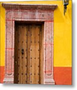 Fancy Door Metal Print