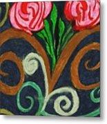 Fancy Flowers Metal Print